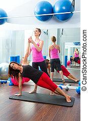 trener, pilates, aerobik, osobisty, instruktor, kobiety