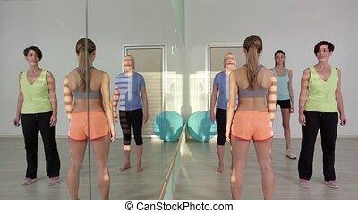 trening, 22of27, sala gimnastyczna, ludzie