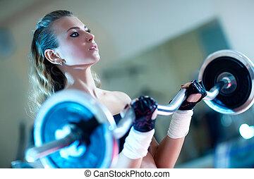 trening, ciężar