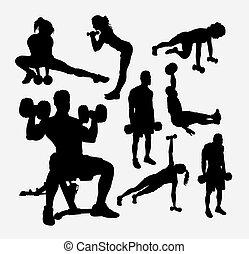 trening, sport, sylwetka