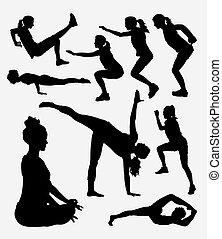 trening, sport, sylwetka, samica