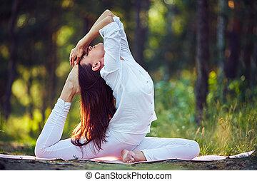 trening, yoga