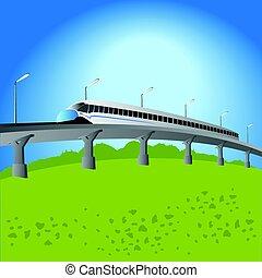 treno ad alta velocità, pendolare