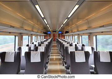 treno, dentro, scompartimento