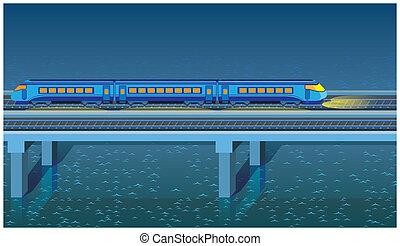 treno espresso, notte