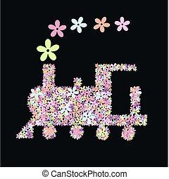 treno, fiore