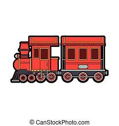 treno, giocattolo, cartone animato