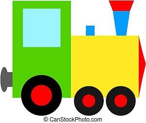 treno, icon., giocattolo