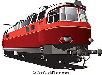 treno, retro, elettrico