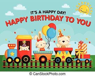treno, scheda, compleanno
