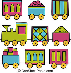 treno, seamless, fondo