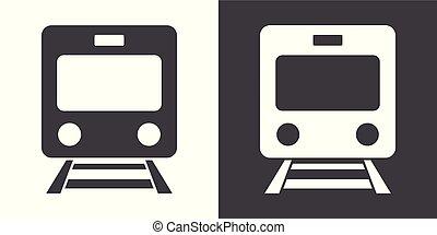 treno, segno, icona