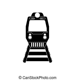 treno, silhouette, illustrazione