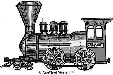 treno, vapore