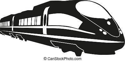 treno, vettore, illustrazione