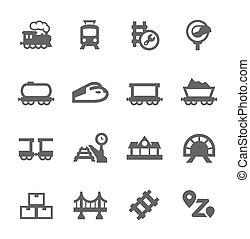 trens, ícones