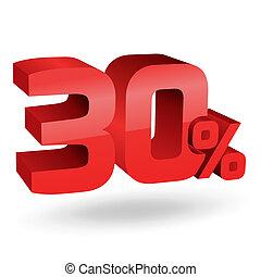 trenta, percento, illustrazione