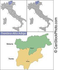 Trentino-Alto Adige is a region in northern Italy - Trentino...