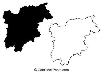 Trentino-Alto Adige - Sudtirol  map
