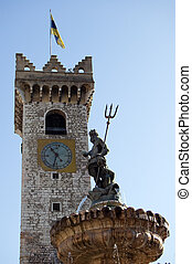 trento nettuno and torre civica
