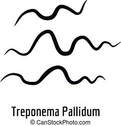 Treponema Pallidum icon, simple style.