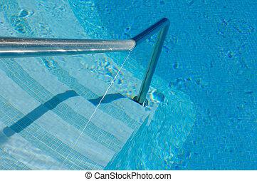 Treppe eines Swimmingpools