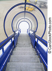 treppe, für, einsteigen