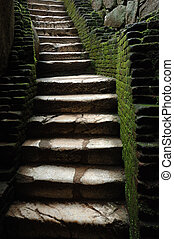 treppe, zu, mittelalterlich, gefã¤ngnis