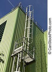 treppenaufgang, sicherheit, stahl