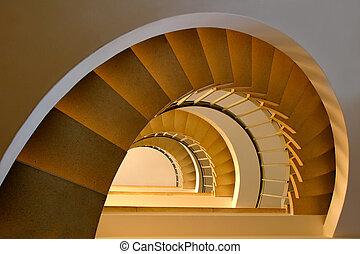 treppenaufgang, spirale