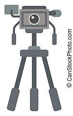 treppiede, macchina fotografica, foto