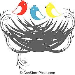 tres, aves