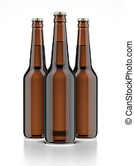 tres, botella de cerveza