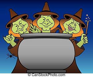 tres, brujas