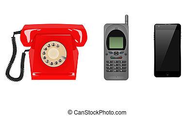 tres generaciones, teléfonos