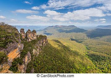 tres hermanas, montañas azules, australia