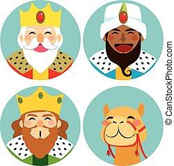 tres hombres sabios, avatar, expresión