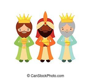 tres hombres sabios, diseño