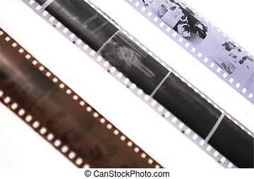 tres, películas, primer plano