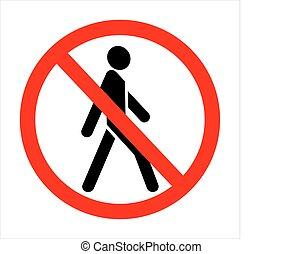 trespassing!, no, señal