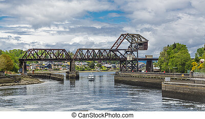 Trestle Bridge Over Salmon Bay