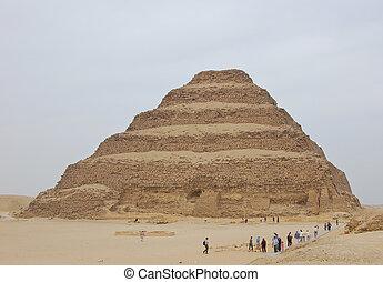 treten, pyramide