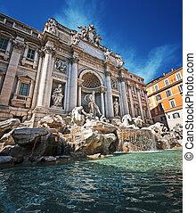 trevi, ローマ, イタリア, -, 噴水