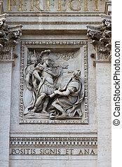 trevi, italien, di, fontana, rom, skulptur