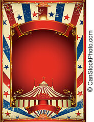 trevlig, årgång, cirkus, bakgrund