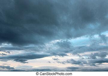 trevlig, sky, bakgrund