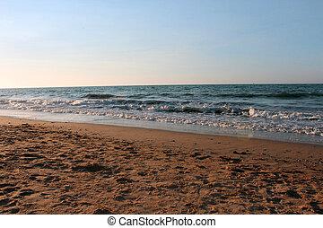 trevlig, strand