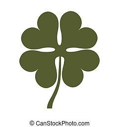 trevo, folha, sorte, são, patrick, ícone