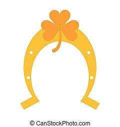 trevo, símbolo, ferradura