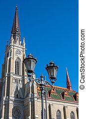 (trg, 広場, novi, セルビア, 悲しい, 自由, porta, katolicka, 大聖堂, ...